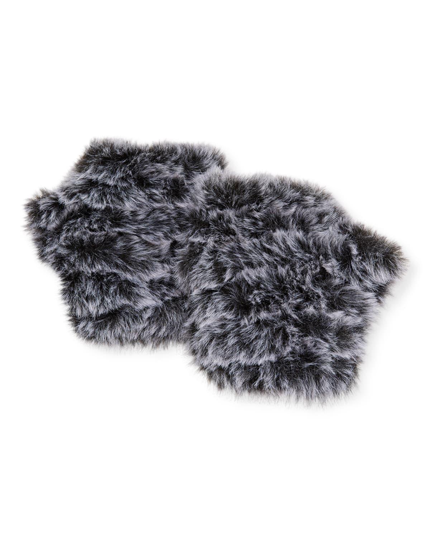 Mandy Fingerless Snowtop Faux Fur Mittens