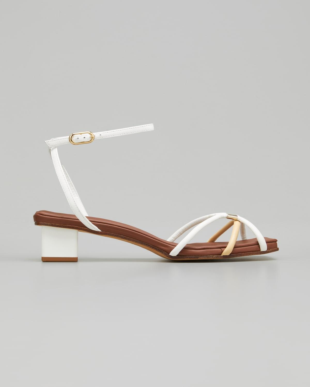 Roxie Bicolor Ankle-Strap Sandals