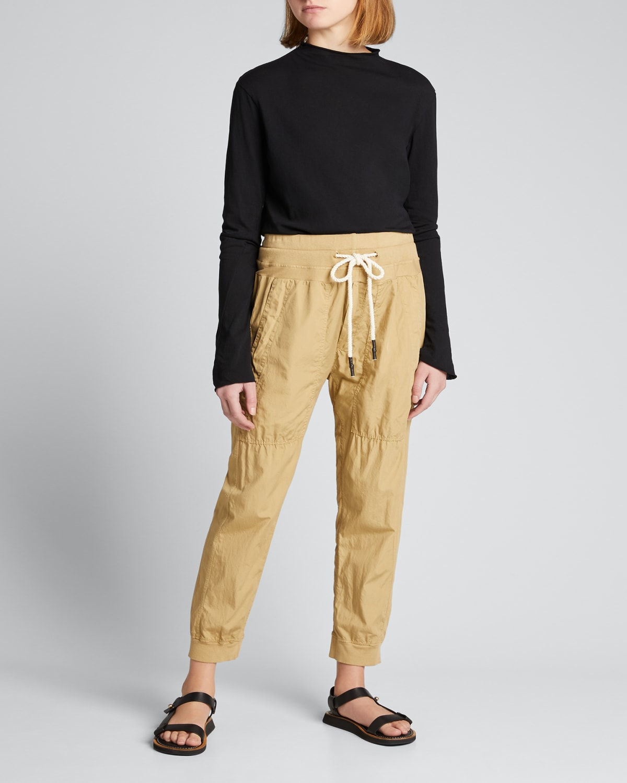 Mock-Neck Slim Long-Sleeve T-Shirt