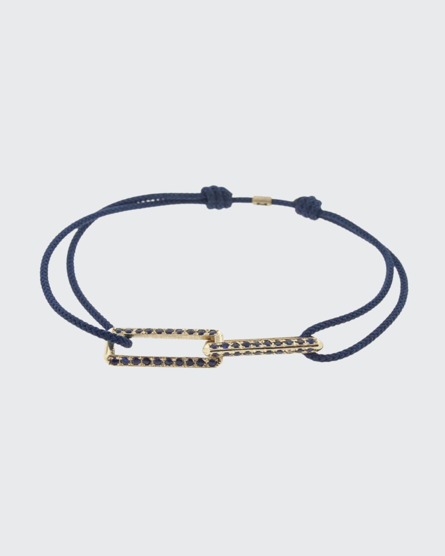 Men's 14K Yellow Gold/Sapphire Pull-Cord Bracelet
