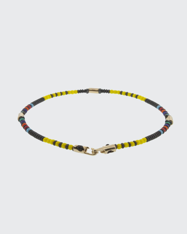 Men's 14K Yellow Gold Bead Bracelet