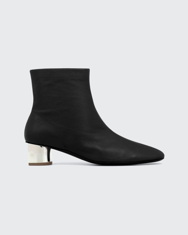 Pola Metallic-Heel Ankle Booties