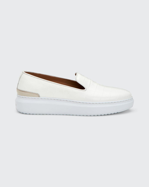 Nile Lanie Mock-Croc Sneakers