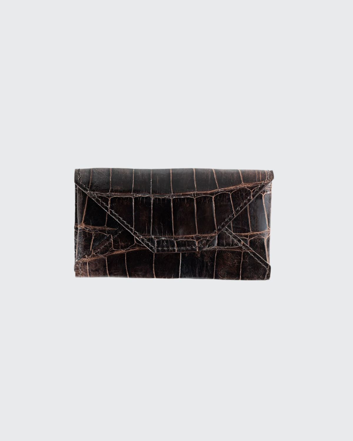 Men's Personalized Alligator Leather Card Case