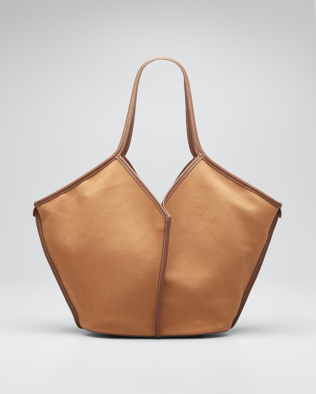 Calella Canvas/Leather Tote Bag