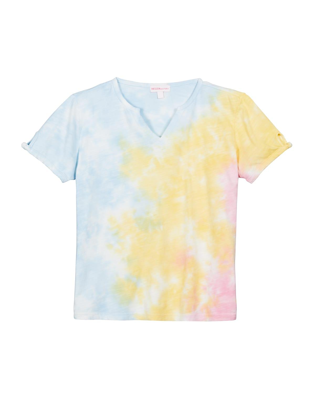Girl's Tie-Dye Jersey Short-Sleeve Shirt