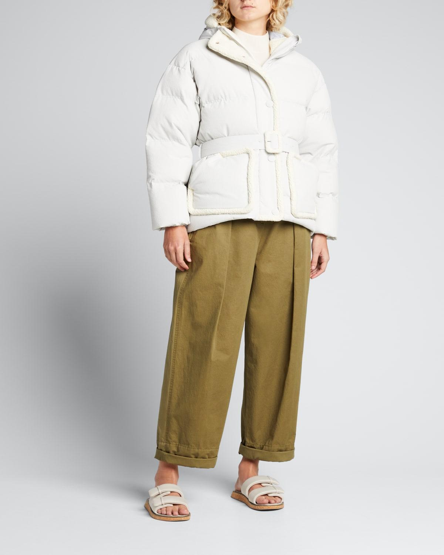 Michlin Shearling-Trim Puffer Jacket