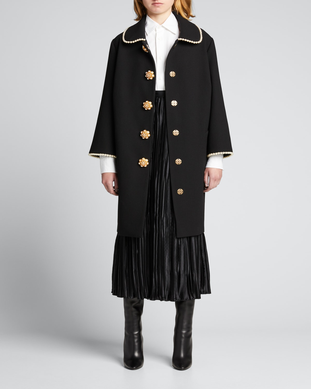 Crinkle Pleated Midi Skirt