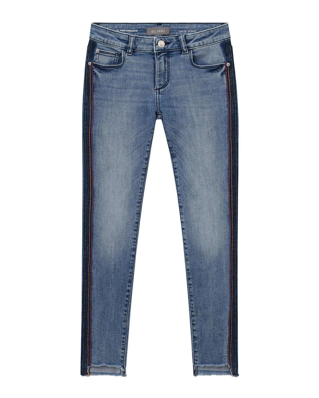 Girl's Chloe Thunder Stripe Skinny Denim Jeans