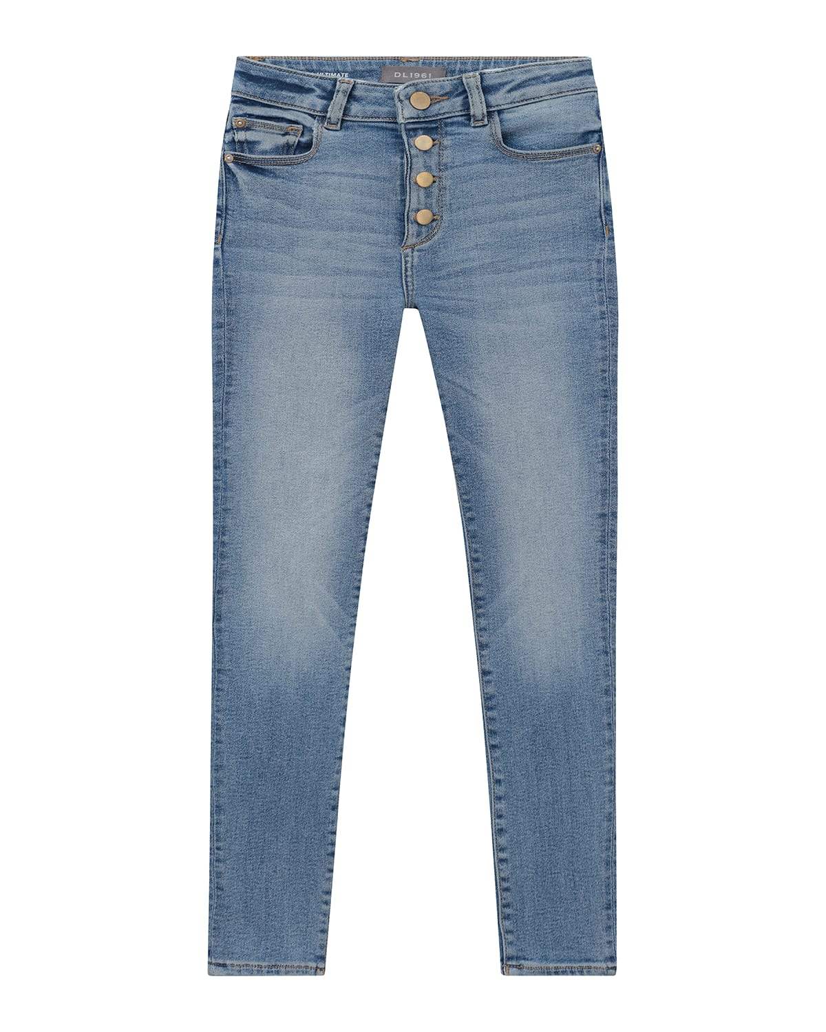 Girl's Chloe High-Rise Button Fly Skinny Jeans