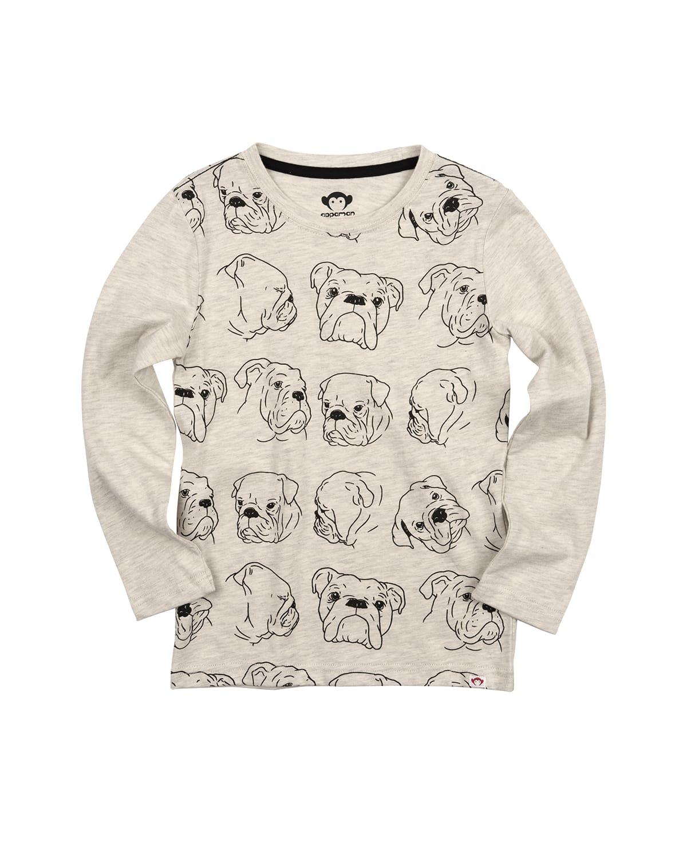 Boy's Bulldog Graphic Print T-Shirt