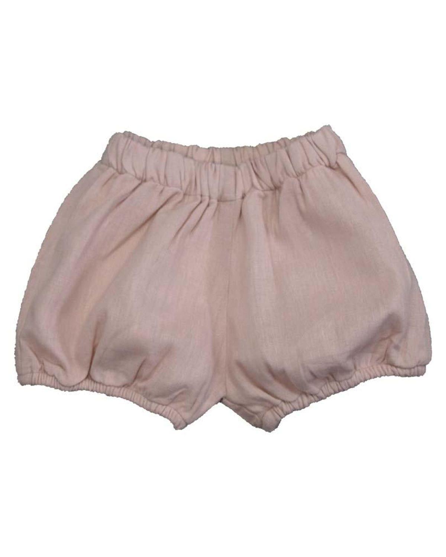 Girl's Solid Linen Diaper Cover