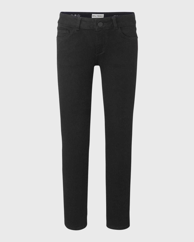 Girl's Chloe Black-Wash Skinny Jeans