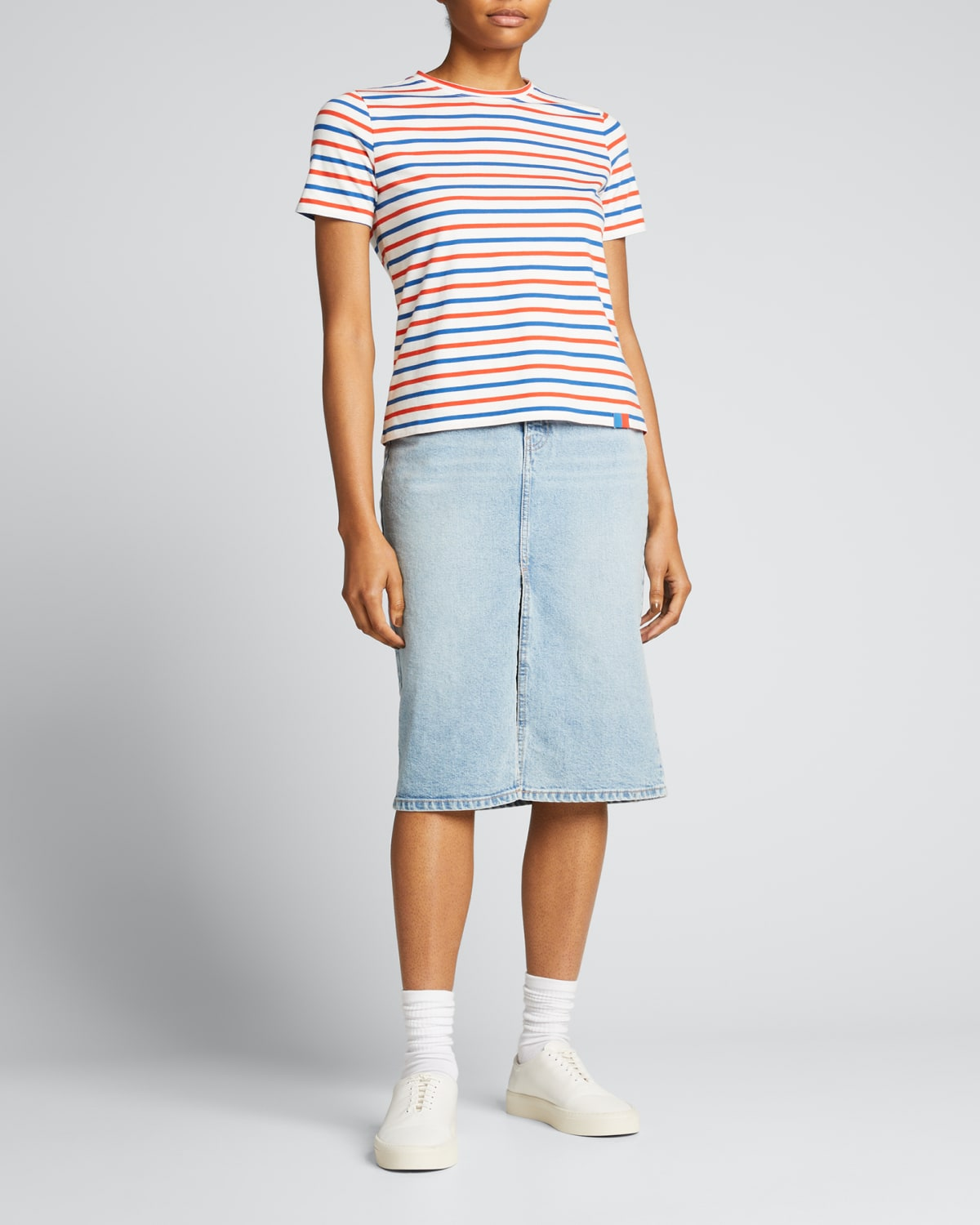 The Modern Short-Sleeve Striped Top