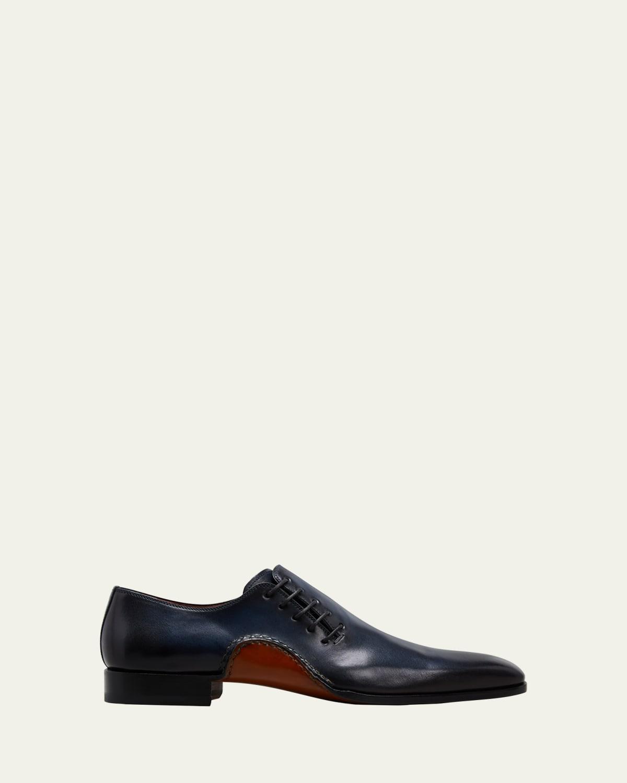 Men's Whole-Cut Leather Oxfords