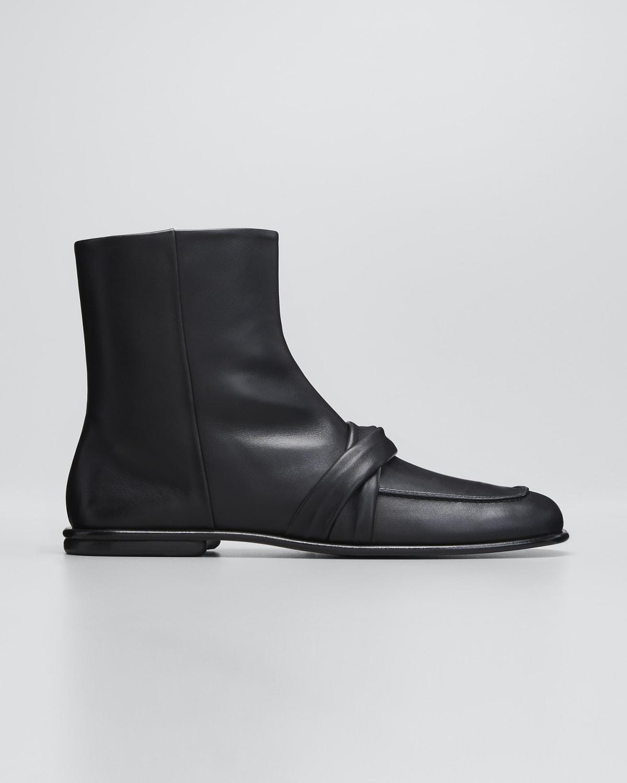 Emma Calfskin Loafer Booties