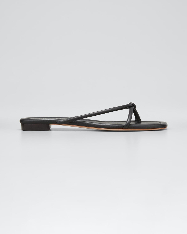 Liv Metallic Knot Thong Sandals