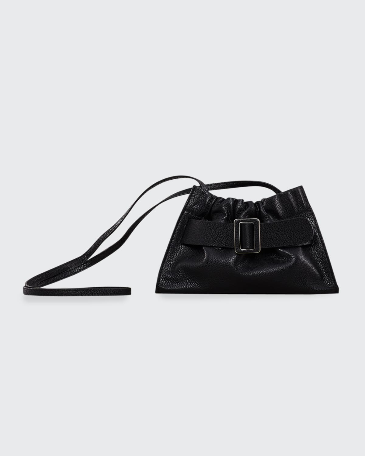 Square Calfskin Slouchy Buckle Tote Bag
