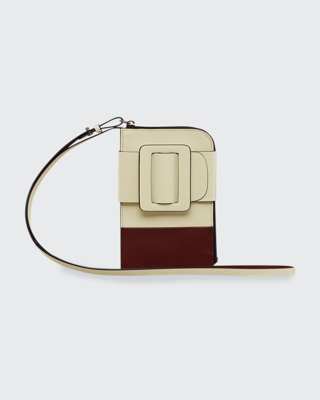 Bicolor Buckle Crossbody Phone Case Bag