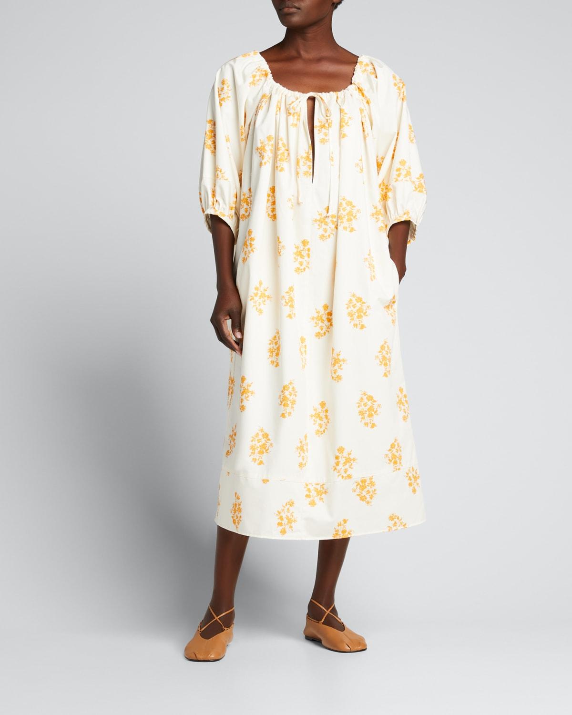 Aria 3/4-Sleeve Midi Dress