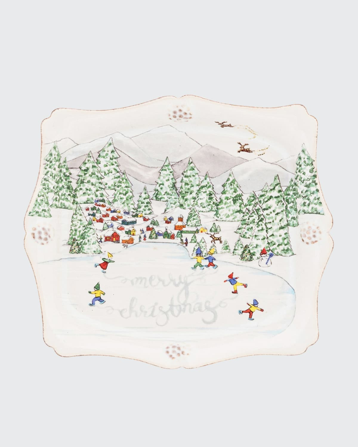 Berry and Thread North Pole Merry Christmas Trinket Tray