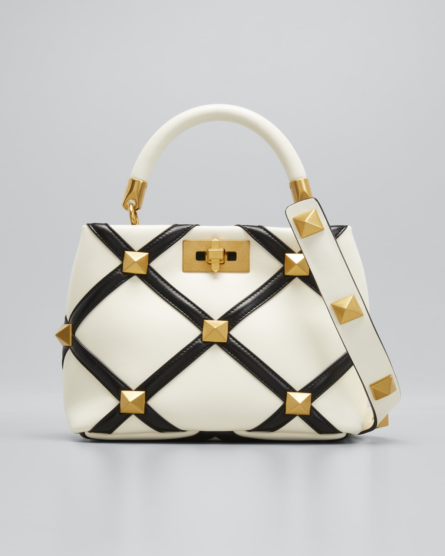 Small Roman Stud Quilt Top-Handle Bag