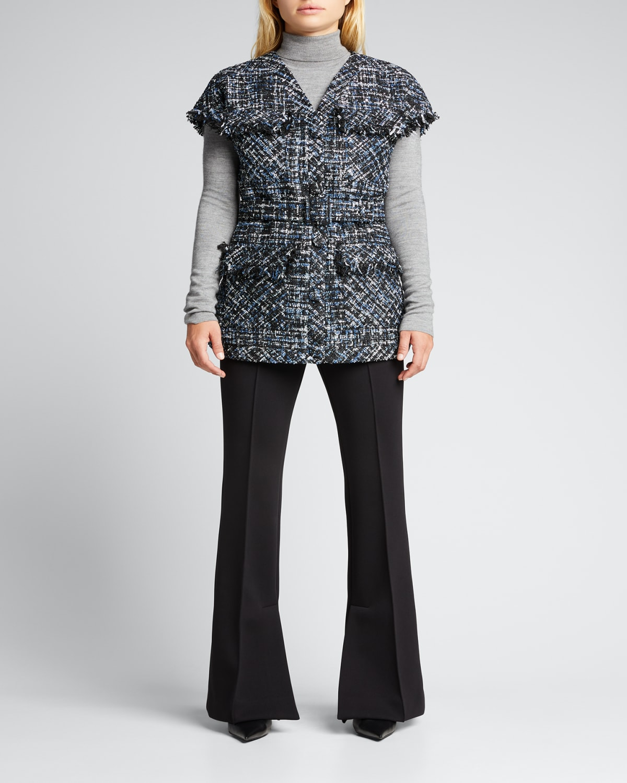 Belted Paillette Tweed Jacket