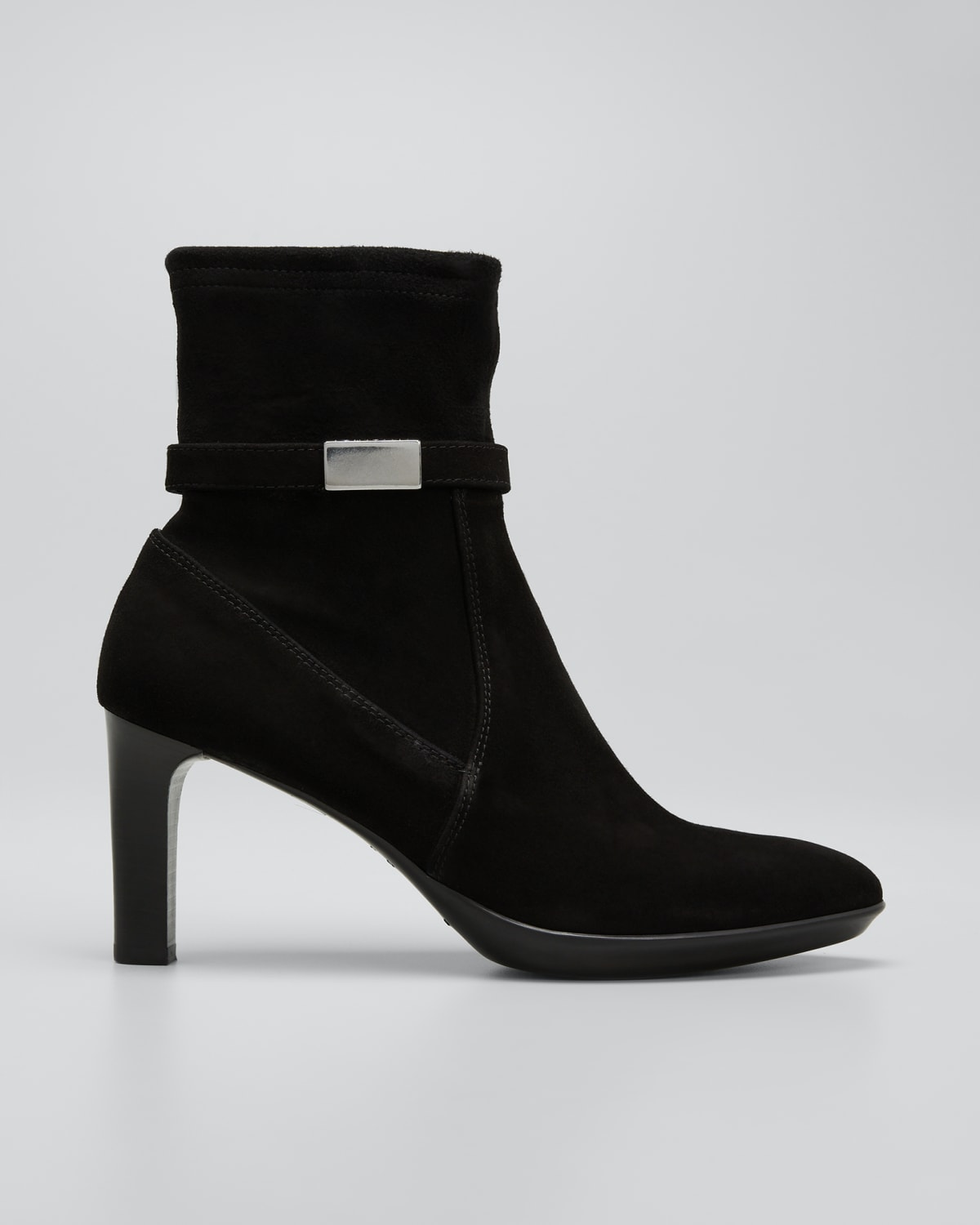 Rania Suede Buckle Ankle Booties