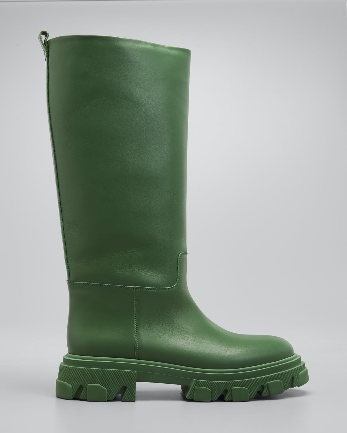 Leather Tall Rain Boots