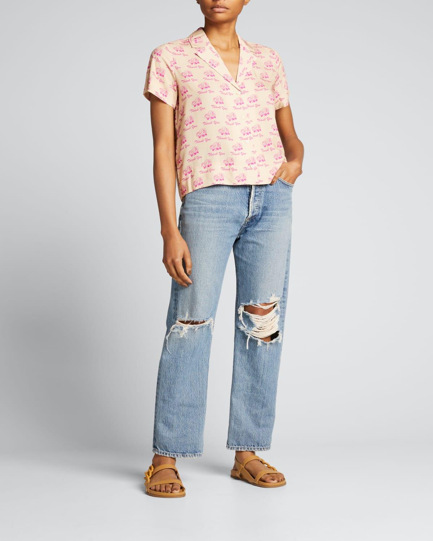 The Tina Button-Front Shirt