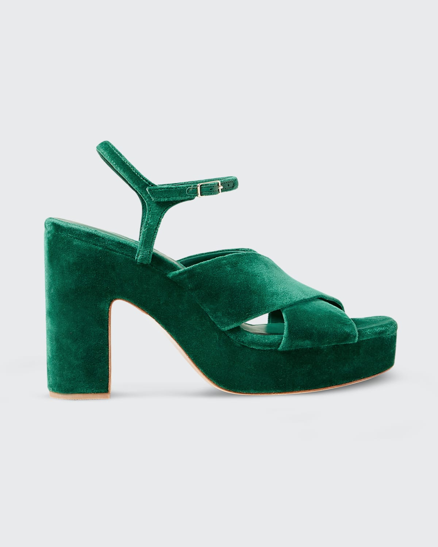 Day Velvet Platform Sandals