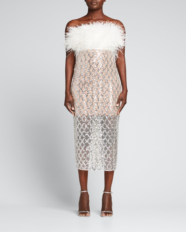 Afiya x Coco Feather Dress