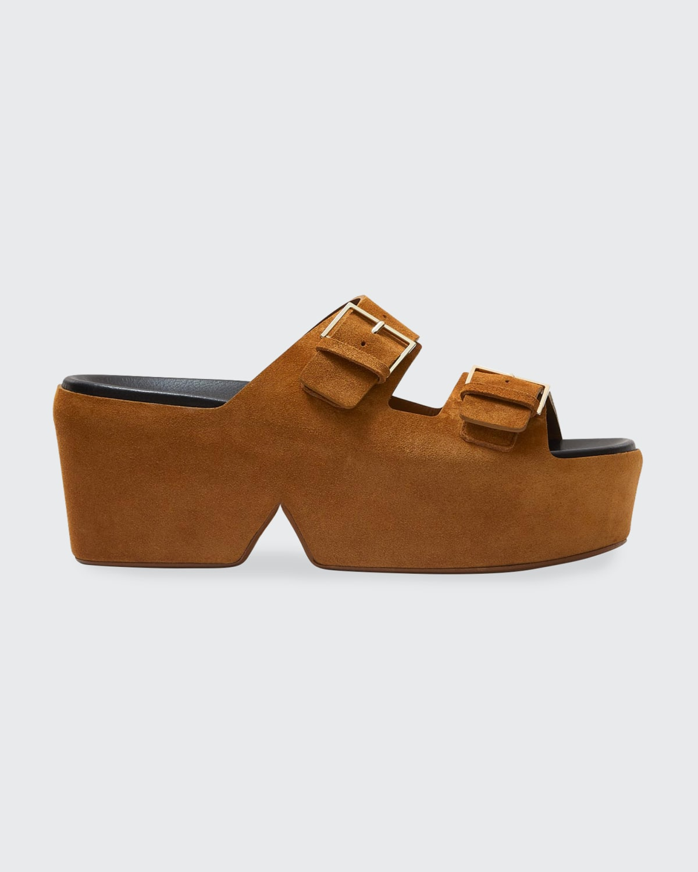 Esme Suede Double Strap Flatform Sandals