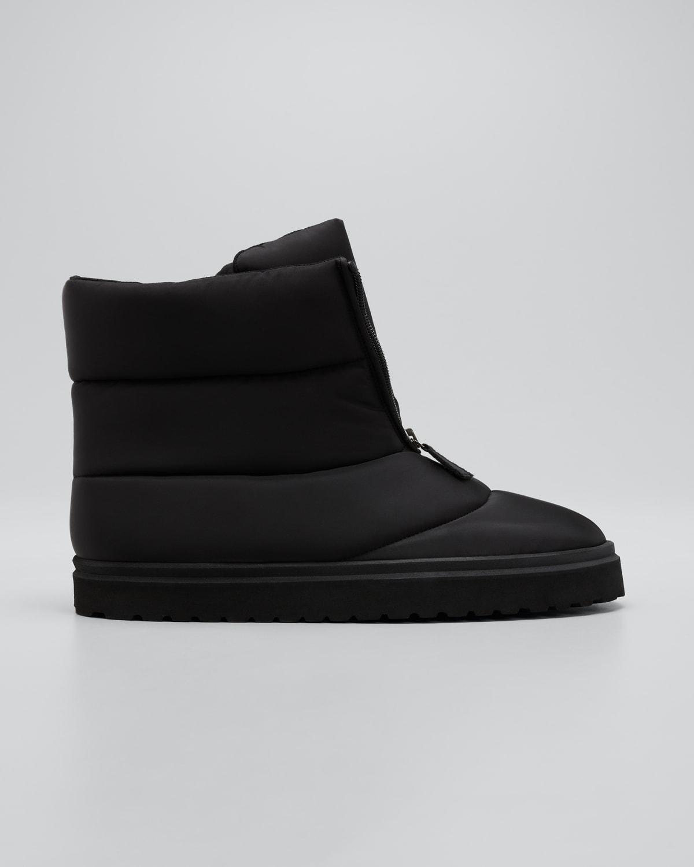 Puffy Nylon Short Boots