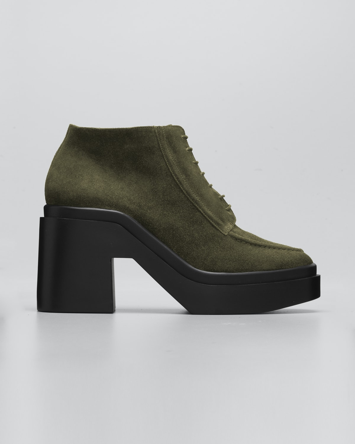 Nadiac Suede Lace-Up Loafer Booties