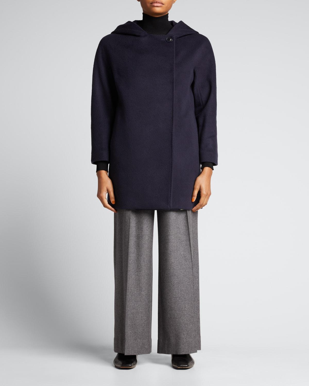 Hooded Wool Short Coat