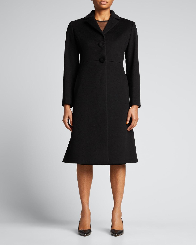Princess Long 2-Button Wool Coat