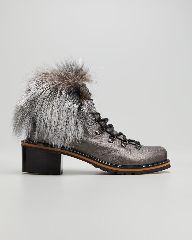 Ninfea Bicolor Leather Winter Booties