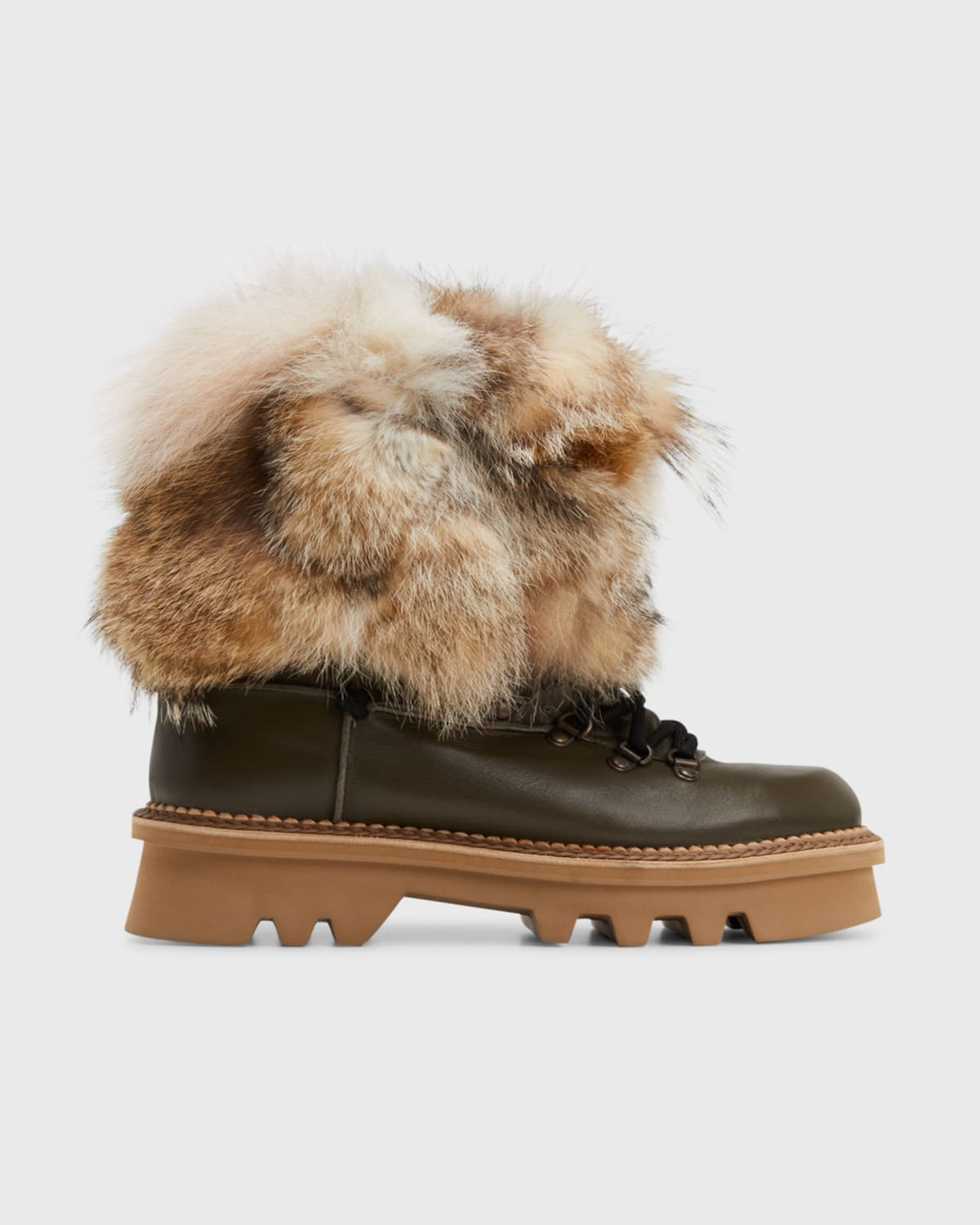 Seicento Shearling Lace-up Snow Booties