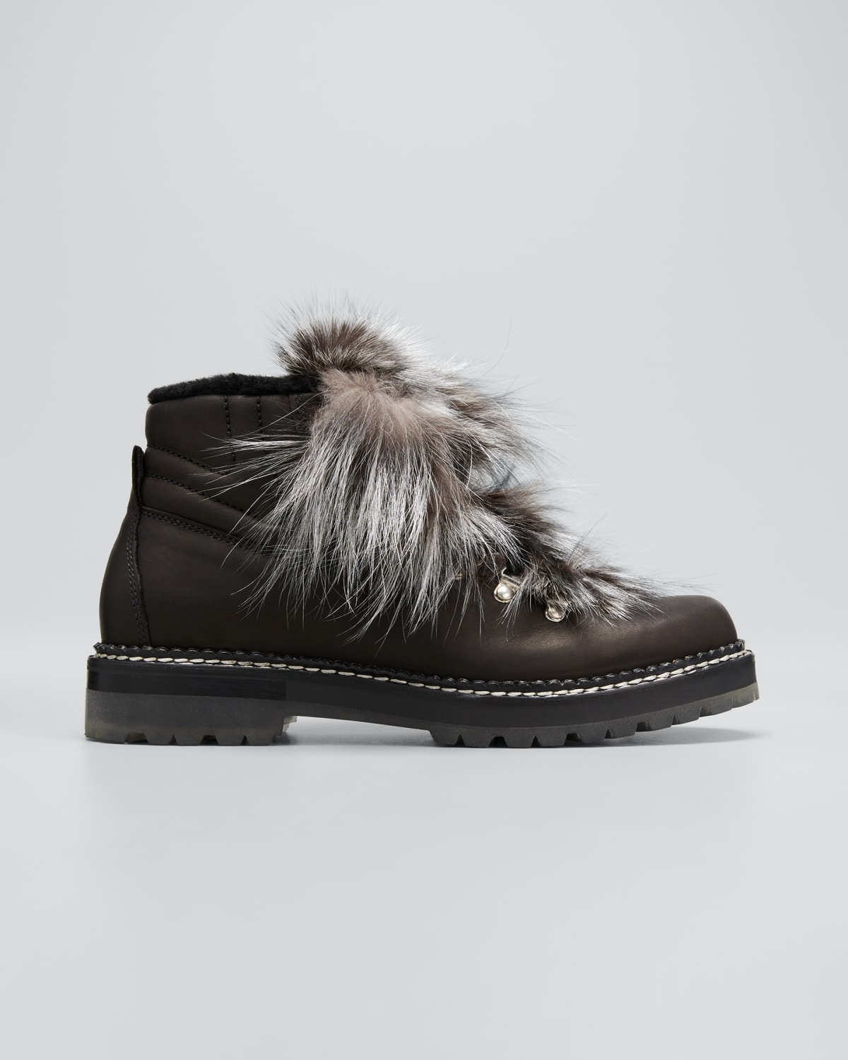 Camelia Shearling Lace-up Winter Booties