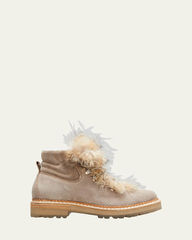 Camelia Suede Shearling Winter Booties