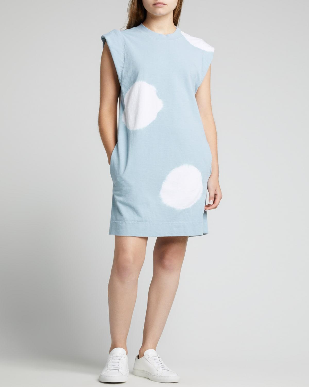 Radial Tie-Dye Jersey Tank Dress
