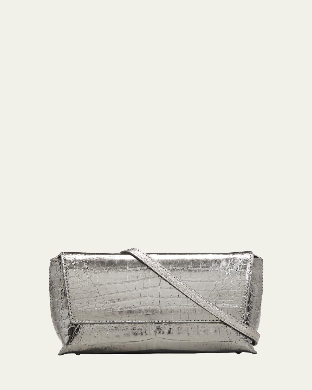 Malala Metallic Crocodile Crossbody Bag