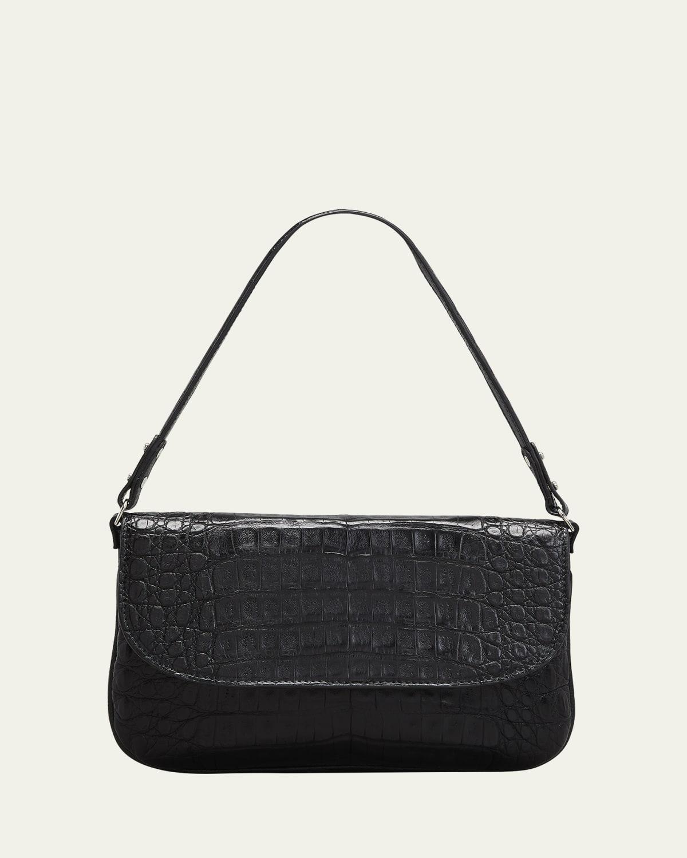 Luisa Matte Crocodile Shoulder Bag
