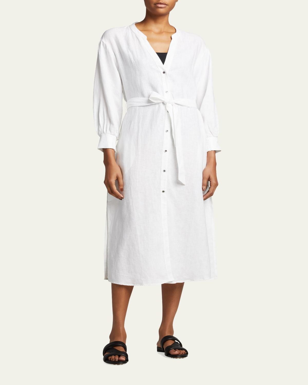 Jetset Shirred-Cuff Shirtdress