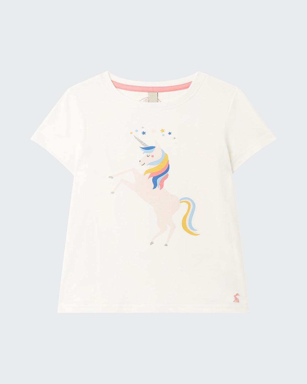 Girl's Pixie Embellished Unicorn T-Shirt