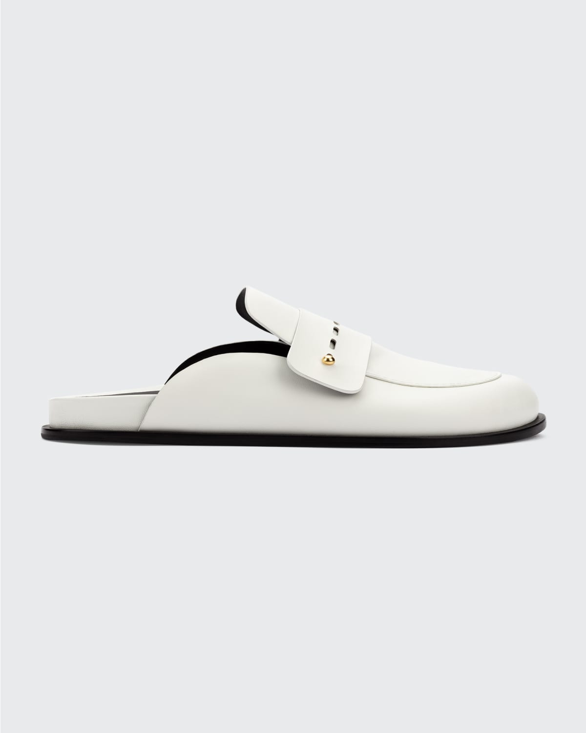 Bailey Leather Loafer Mules