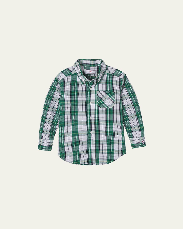 Boy's Owen Plaid Long-Sleeve Shirt