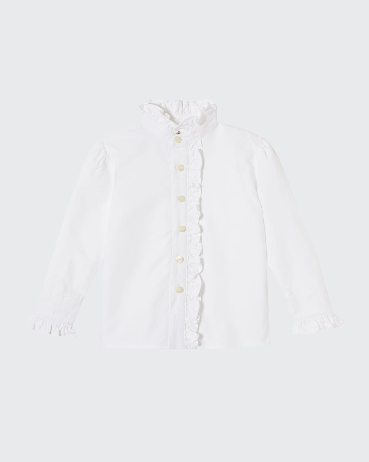 Girl's Ginny Ruffle-Front Blouse