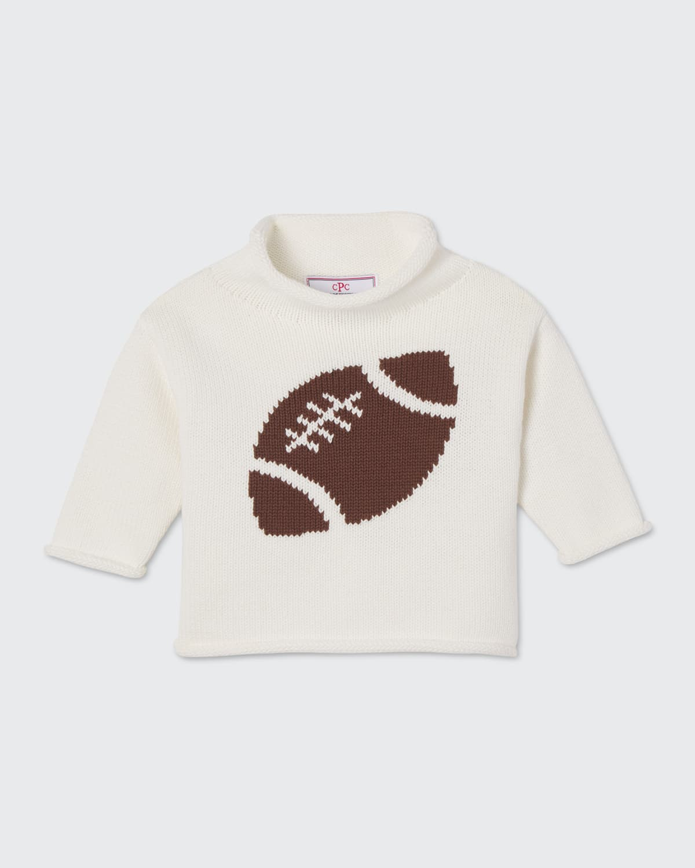 Boy's Fraser Football Intarsia Sweater